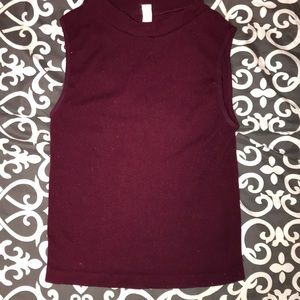 Vintage 1 size spandex tank blood 🩸 red by a.a.